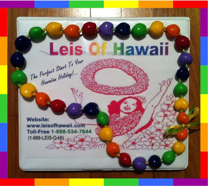 New Rainbow Kukui Nut Lei